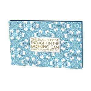 One Small Positive Thought Watercolor Art Box Sign